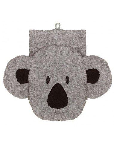 Manopla de algodón orgánico koala grande