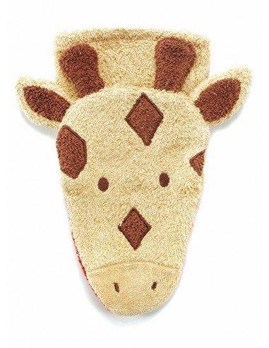 Manopla de algodón orgánico jirafa...