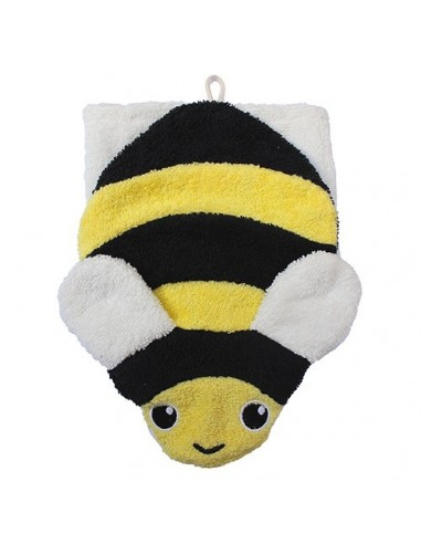 Manopla de algodón orgánico abeja...