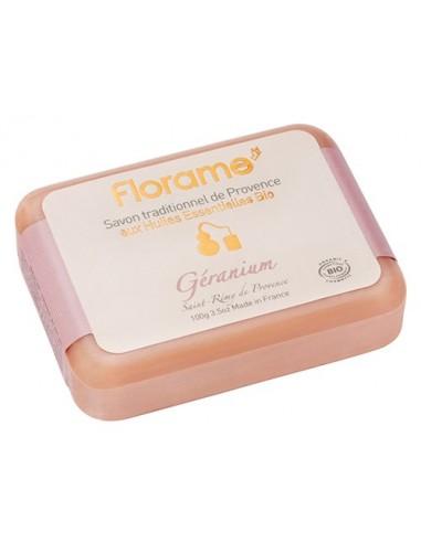 Jabón tradicional provenzal de geranio