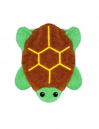 Manopla de algodón orgánico tortuga...